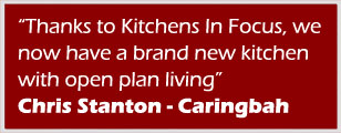 Thank to Kitchen In Focus, we now have a brand new kitchen with open plan living